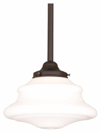 Hudson Valley 3409-OB Petersburg Small 9 Inch Diameter Transitional Old Bronze Finish Hanging Lamp