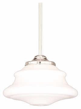 Hudson Valley 3409-PN Petersburg Polished Nickel Finish 9 Inch Diameter Drop Lighting - Small