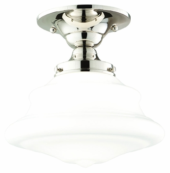 Hudson Valley 3409F Petersburg Small 9 Inch Diameter Semi Flush Transitional Ceiling Light With Finish Options