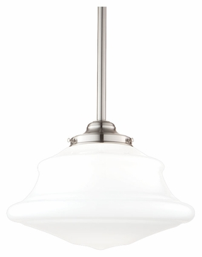 Hudson Valley 3412-SN Petersburg Satin Nickel Finish 12 Inch Diameter Transitional Pendant Lamp - Medium