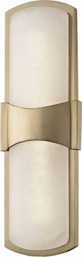 Hudson Valley 3415-AGB Valencia Contemporary Aged Brass LED Wall Light Sconce