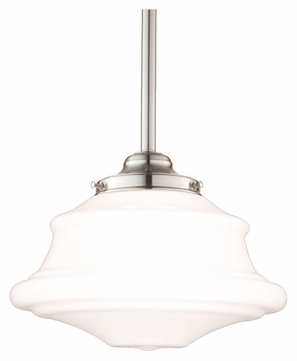 Hudson Valley 3416-SN Petersburg Large Satin Nickel Finish Transitional Drop Ceiling Light Fixture - 16 Inch Diameter