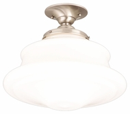 Hudson Valley 3416F-SN Petersburg Satin Nickel Finish 16 Inch Diameter Large Semi Flush Mount Ceiling Light Fixture