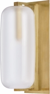 Hudson Valley 3471-AGB Pebble Modern Aged Brass Wall Light Sconce