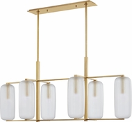 Hudson Valley 3476-AGB Pebble Modern Aged Brass Island Lighting