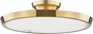 Hudson Valley 3600-AGB Draper Contemporary Aged Brass LED Ceiling Light Fixture
