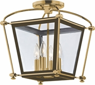 Hudson Valley 3610-AGB Hollis Aged Brass Ceiling Light Fixture