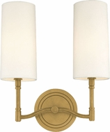 Hudson Valley 362-AGB Dillon Aged Brass Wall Lamp