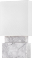 Hudson Valley 3652-WM Haight Modern White Marble Wall Mounted Lamp