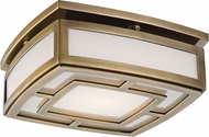 Hudson Valley 3710-AGB Elmore Contemporary Aged Brass LED Ceiling Light Fixture