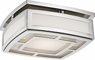 Hudson Valley 3710-PN Elmore Contemporary Polished Nickel LED Ceiling Light Fixture