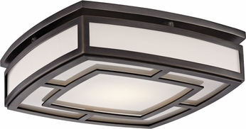 Hudson Valley 3713-OB Elmore Contemporary Old Bronze LED Flush Mount Lighting