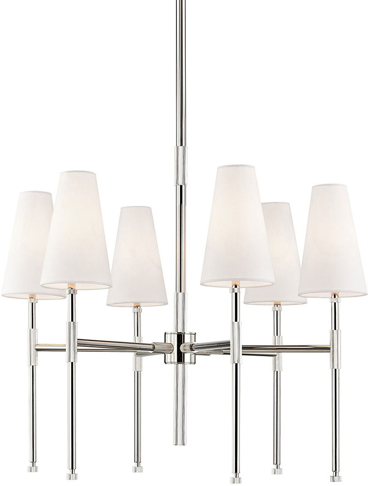 Hudson Valley 3728 Pn Bowery Contemporary Polished Nickel Chandelier Light