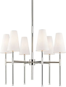 Hudson Valley 3728-PN Bowery Contemporary Polished Nickel Chandelier Light