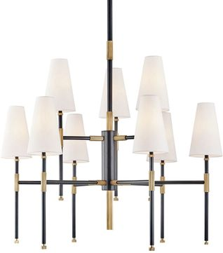 Hudson Valley 3734 Aob Bowery Modern Aged Old Bronze Chandelier Lighting