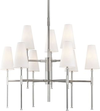 Hudson Valley 3734-PN Bowery Contemporary Polished Nickel Lighting Chandelier
