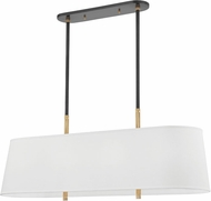 Hudson Valley 3747-AOB Bowery Contemporary Aged Old Bronze Kitchen Island Light