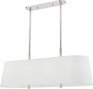 Hudson Valley 3747-PN Bowery Contemporary Polished Nickel Island Light Fixture