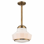 Hudson Valley 3809-AGB Odessa Aged Brass Finish 8.75 Wide Mini Ceiling Light Pendant