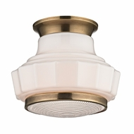Hudson Valley 3809F-AGB Odessa Aged Brass Finish 8.75 Wide Flush Ceiling Light Fixture