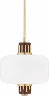 Hudson Valley 3817-AGB Peekskill Modern Aged Brass Ceiling Light Pendant