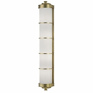 Hudson Valley 3833-AGB Albany Aged Brass Wall Sconce Lighting