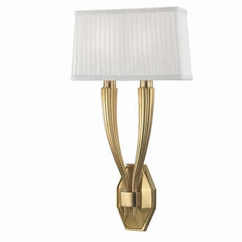 Hudson Valley 3862-AGB Erie Aged Brass Wall Lighting Fixture