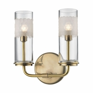 Hudson Valley 3902-AGB Wentworth Aged Brass Xenon 2-Light Bathroom Wall Sconce