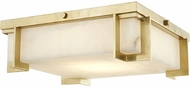 Hudson Valley 3913-AGB Delmar Contemporary Aged Brass LED 13  Flush Mount Light Fixture