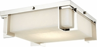 Hudson Valley 3913-PN Delmar Contemporary Polished Nickel LED 13  Flush Ceiling Light Fixture