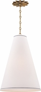 Hudson Valley 3916-AGB Worth Modern Aged Brass Pendant Hanging Light