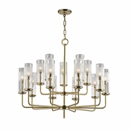 Hudson Valley 3930-AGB Wentworth Aged Brass Xenon Ceiling Chandelier
