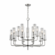 Hudson Valley 3930-PN Wentworth Polished Nickel Xenon Hanging Chandelier