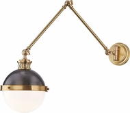 Hudson Valley 4011-ADB Latham Contemporary Antique Distressed Bronze Wall Swing Arm Lamp