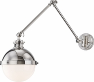 Hudson Valley 4011-PN Latham Modern Polished Nickel Swing Arm Wall Lamp