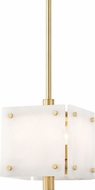 Hudson Valley 4012-AGB Paladino Contemporary Aged Brass Mini Drop Ceiling Light Fixture