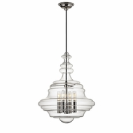Hudson Valley 4016-PN Washington Contemporary Polished Nickel Pendant Lamp