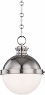 Hudson Valley 4019-PN Latham Modern Polished Nickel Mini Ceiling Light Pendant