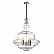 Hudson Valley 4020-PN Washington Contemporary Polished Nickel Hanging Light