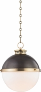 Hudson Valley 4025-ADB Latham Contemporary Antique Distressed Bronze Ceiling Pendant Light