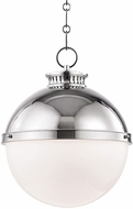 Hudson Valley 4025-PN Latham Modern Polished Nickel Drop Ceiling Light Fixture