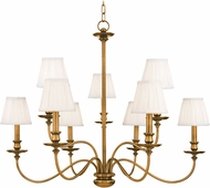 Hudson Valley 4039-AGB Menlo Park Aged Brass Ceiling Chandelier