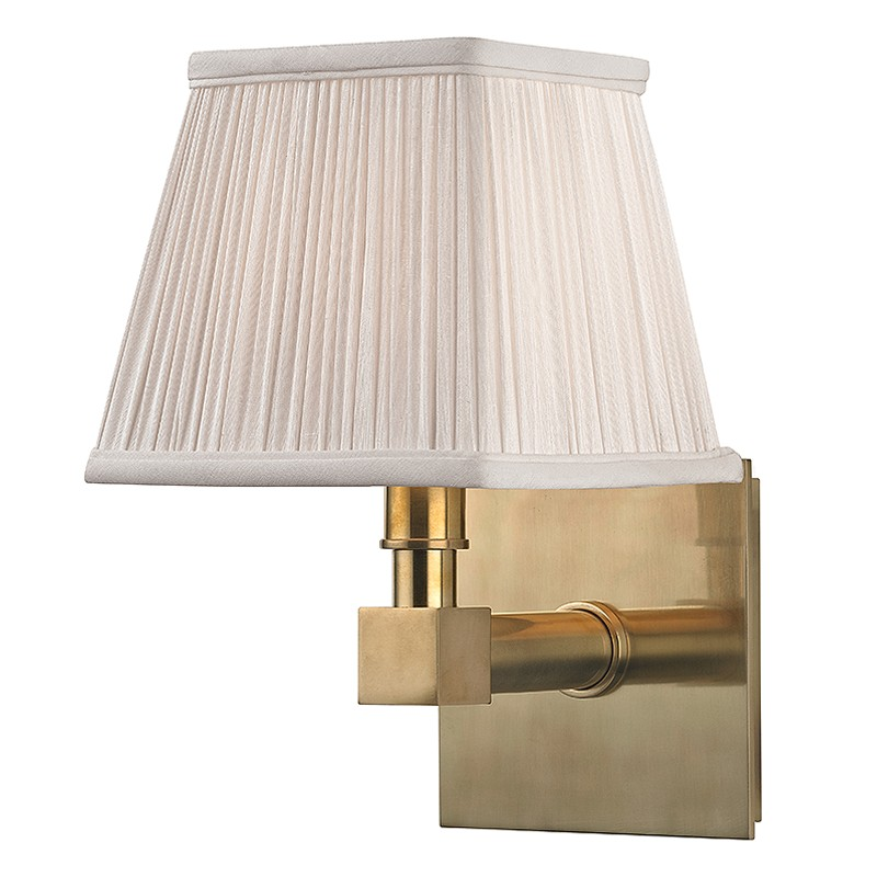 """Hudson Valley 4041-AGB Dixon Aged Brass Finish 5.5"""" Wide ... on Aged Brass Wall Sconce id=41731"""