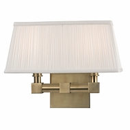 Hudson Valley 4042-AGB Dixon Aged Brass Finish 9.5  Tall Wall Lighting
