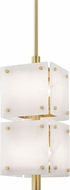 Hudson Valley 4052-AGB Paladino Contemporary Aged Brass Mini Hanging Lamp