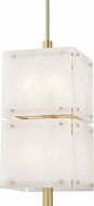 Hudson Valley 4058-AGB Paladino Contemporary Aged Brass Pendant Lighting Fixture