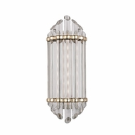 Hudson Valley 408-AGB Albion Contemporary Aged Brass Finish 16.5  Tall LED Wall Light Fixture