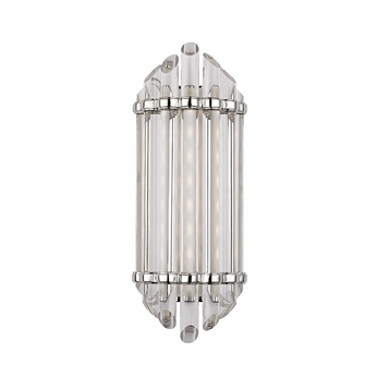 Hudson Valley 408-PN Albion Modern Polished Nickel Finish 6.5 Wide LED Lighting Wall Sconce