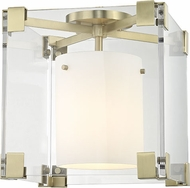 Hudson Valley 4100-AGB Achilles Contemporary Aged Brass Flush Mount Ceiling Light Fixture