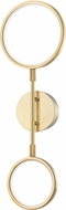 Hudson Valley 4102-AGB Saturn Modern Aged Brass LED Wall Mounted Lamp